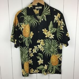 Tommy Bahama S Silk Hawaiian Shirt Pineapple Palm